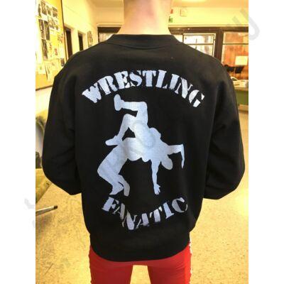 Felnőtt pulóver-fekete hátán nagy-dobós mintával