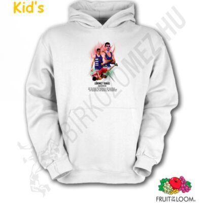 Felnőtt és gyerek kapucnis pulóver-Lőrincz Tamás,fehér