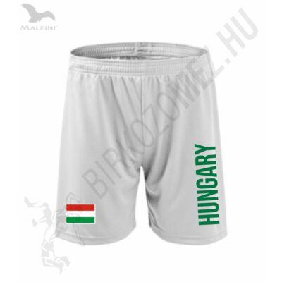 Technikai short, fehér, Hungary+zászló