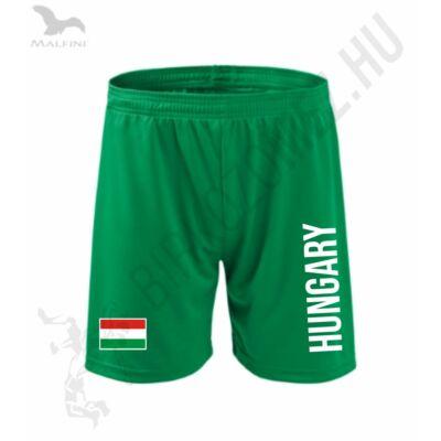 Technikai short, zöld, Hungary+zászló