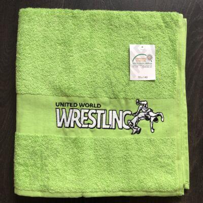 Közepes Wrestling feliratos Törölköző zöld  (70X140)