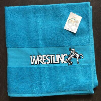 Közepes Wrestling feliratos Törölköző  kék (70X140)