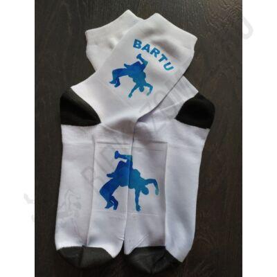 Kék mintás zokni (hosszú szárú) - EGYEDI NÉVVEL