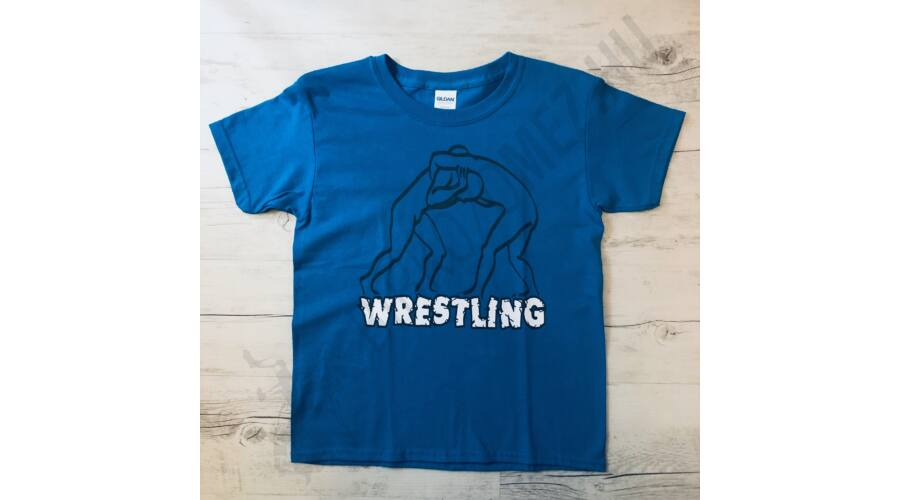 a1d3d7f135 Gyerek póló-Árnyék-kék - Baba póló - Birkózómez